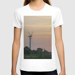 ad solis occasum ventus turbines ab Horumersiel T-shirt