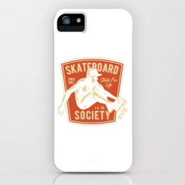 Skateboard Society iPhone Case