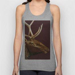 Big Bull Elk Profile Unisex Tank Top