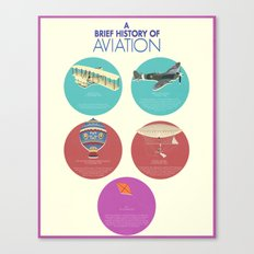 A Brief History of Aviation Canvas Print