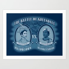 Pillowtown vs Blanketsburg Art Print