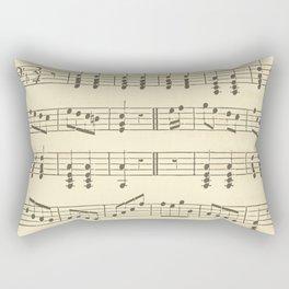 Music Note Pattern Rectangular Pillow