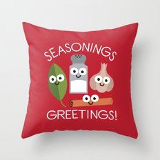 My Flavorite Things Throw Pillow