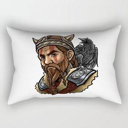 Viking | Warrior Raven Odin Walhalla Valknut Loki Rectangular Pillow