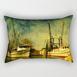 Old Shrimp Boats in Florida Rectangular Pillow