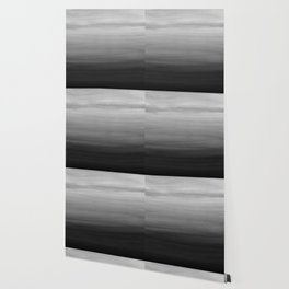 Touching Black Gray White Watercolor Abstract #1 #painting #decor #art #society6 Wallpaper
