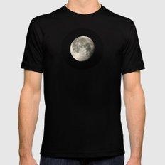 moon glow MEDIUM Mens Fitted Tee Black