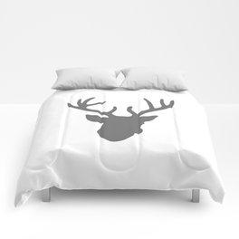Deer Head: Grey Comforters