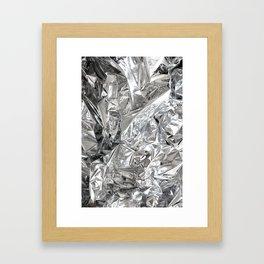 Silver Mylar Balloon Framed Art Print