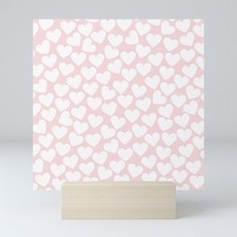 Pink & White - Valentine Love Heart Pattern - Mix & Match with Simplicty of life Mini Art Print