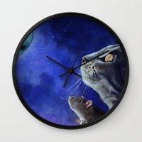 friendship Wall Clocks featuring Friendship by Mihai Paraschiv