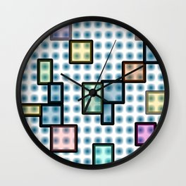 zappwaits glass Wall Clock