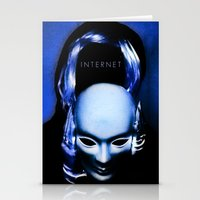 internet Stationery Cards featuring internet by Luca Finardi