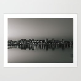 Porto in Black and White Art Print