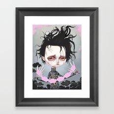 Edward Scissorhands Is Sad Framed Art Print