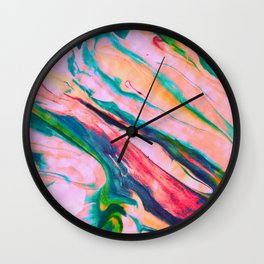 Bright and happy marble design Wall Clock
