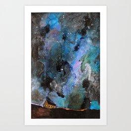 Space House Art Print