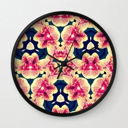 Kaleidoscope Orchids Wall Clock