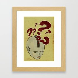 Question marks - Confusion Framed Art Print