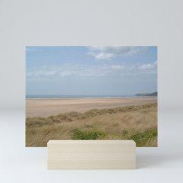 SAUNTON SANDS BEACH FROM DUNES DEVON Mini Art Print