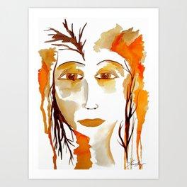The Goddess of Autumn  Art Print
