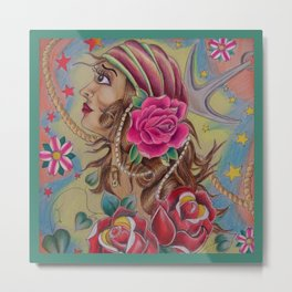 Pirate Wench Metal Print