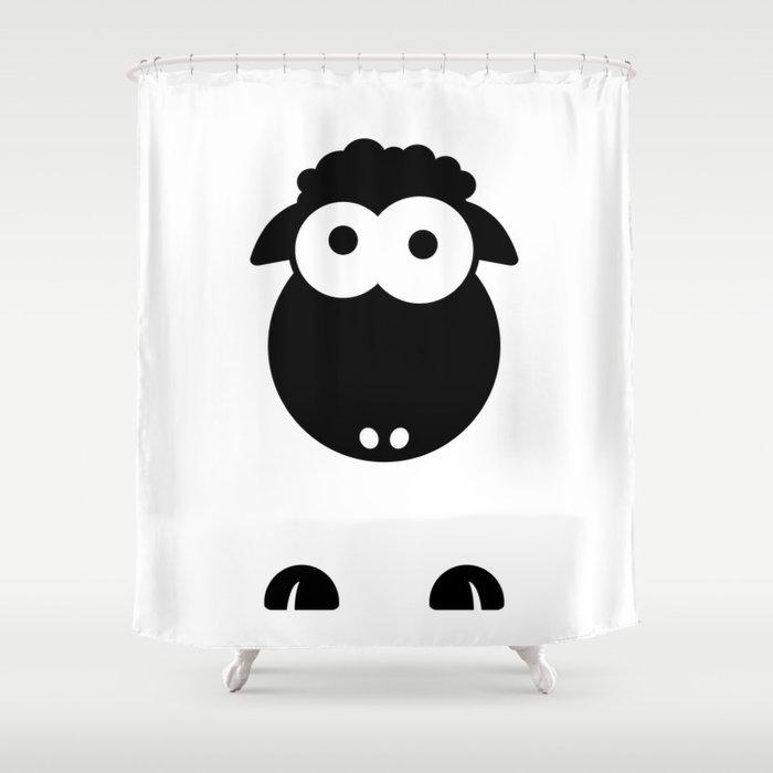 Minimal Sheep Shower Curtain By Danielebbrell