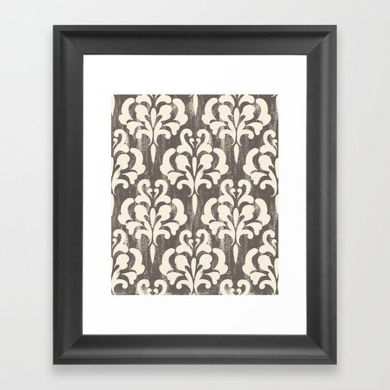 Damask1 Framed Art Print