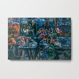 A graffiti wall in  Szeged, Hungary Metal Print