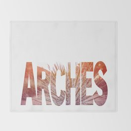 Arches National Park, Southern Utah Throw Blanket