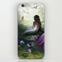 little mermaid iPhone & iPod Skins featuring Little mermaid by milyKnight