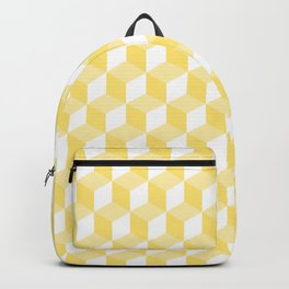 Yellow And White Cubes Pattern Backpack