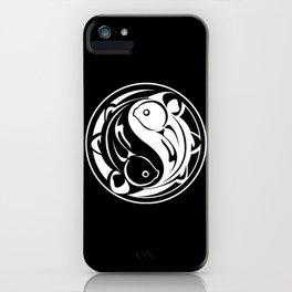 Yin Yang Fish:  Black & White iPhone Case