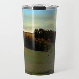 Last Moments of Sunset Glow, Sonoma County Hills Travel Mug