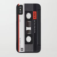 tape iPhone & iPod Cases featuring Old School Tape by Ewan Arnolda