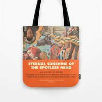 eternal sunshine of the spotless mind Tote Bags featuring Eternal Sunshine Of the Spotless Mind - Michel Gondry by Smart Store