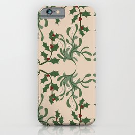 Mistletoe and Holly iPhone Case