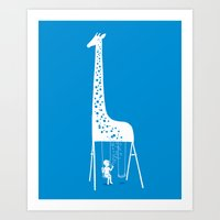 ilovedoodle Art Prints featuring My playground by I Love Doodle