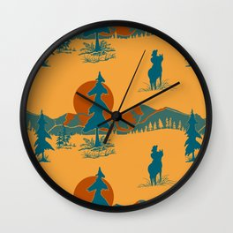 The Day of the Cowboy is gone.... Wall Clock