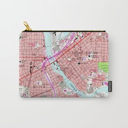 Vintage Map of Cedar Rapids Iowa (1967) Carry-All Pouch