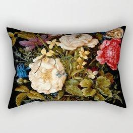 """Ambrosius Bosschaert the Elder """"Still life with flowers"""" Rectangular Pillow"""