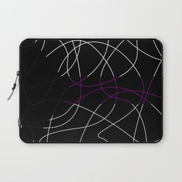 Abstract Threads – Demisexual Pride Flag Laptop Sleeve
