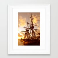 pirate ship Framed Art Prints featuring PIRATE SHIP :) by Teresa Chipperfield Studios