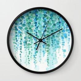 String of Pearls Watercolor Wall Clock