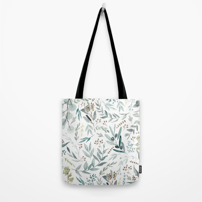 Eucalyptus pattern Tote Bag