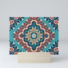 Native American Navajo pattern II Mini Art Print