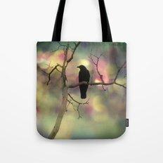 Crow Dreams In Colors Tote Bag