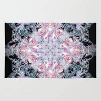 snowflake Area & Throw Rugs featuring Snowflake. by Assiyam