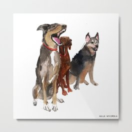 watercolor dog vol2 Pointer, Coonhound, Alaskan Metal Print