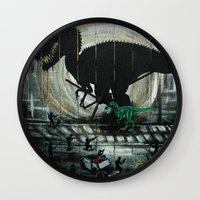 dinosaur Wall Clocks featuring dinosaur by mass confusion